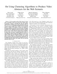 On Using Clustering Algorithms to Produce Video Abstracts for the ...