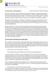Trauerrituale und Begräbnis - Karl-Franzens-Universität Graz
