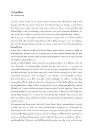 """Thomas Mann von Michael Kleeberg """"In tiefer Trauer nehme ich von ..."""