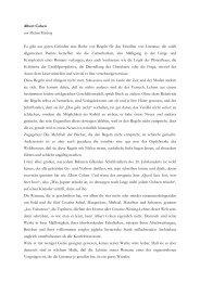 Albert Cohen von Michael Kleeberg Es gibt aus guten Gründen eine ...