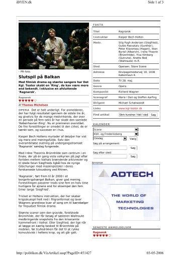 Slutspil på Balkan, Politiken v2.pdf - AU/BIO