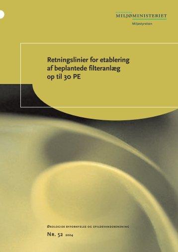 Retningslinier for etablering af beplantede filteranlæg op til 30 PE