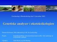 Genetiske analyser i økotoksikologien - AU/BIO