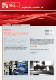 Application note No. 17 - AOS Technologies AG