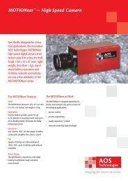 MOTIONeer™ – High-Speed Camera - AOS Technologies AG