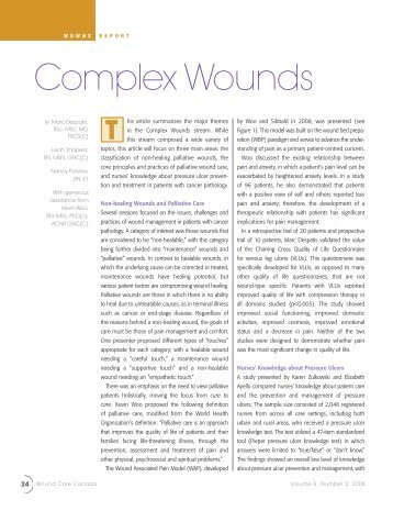 Complex Wounds - Canadian Association of Wound Care