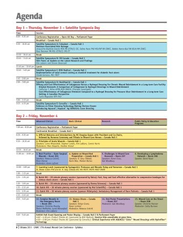 Agenda - Canadian Association of Wound Care