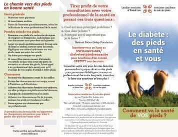 Le diabète : des pieds en santé et vous