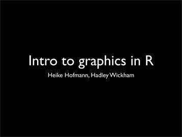 Introduction to R - Hadley Wickham