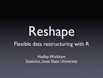 Reshape - Hadley Wickham
