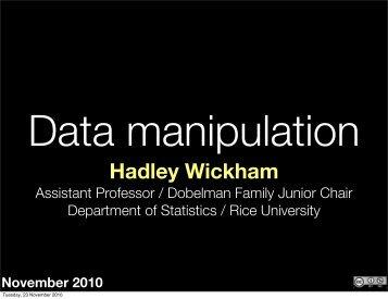 Download slides - Courses - Hadley Wickham