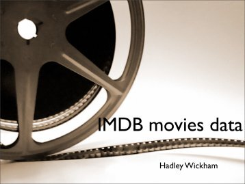 IMDB movies data - Hadley Wickham