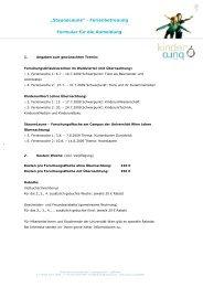 Briefvorlage Kinderbüro - Kinderbüro an der Universität Wien