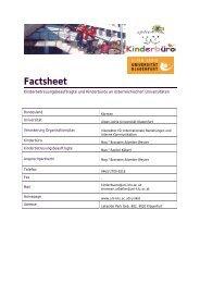 Factsheet - Kinderbüro an der Universität Wien
