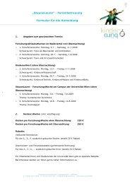 """""""StauneLaune"""" - Ferienbetreuung Formular für die Anmeldung"""