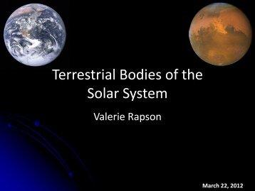 The inner solar system (PDF)