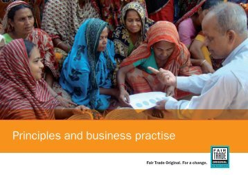 Principles and business practise - Fair Trade Original