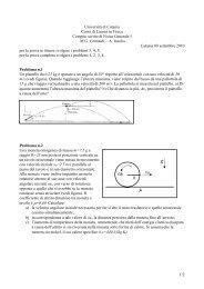 compito 09/09/10 - Dipartimento di Fisica e Astronomia dell ...
