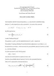 σ σ σ π σ σ σ - Dipartimento di Fisica e Astronomia dell'Università di ...