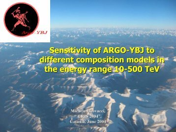 Sensitivity of ARGO-YBJ to different composition models in the ...