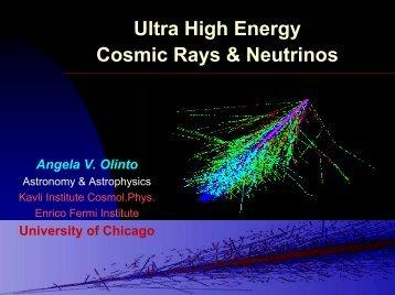 UHE Cosmic Rays and Neutrinos