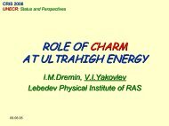 ROLE OF CHARM AT SUPERHIGH ENERGY