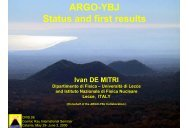 ARGO-YBJ Status and first results - Dipartimento di Fisica e ...