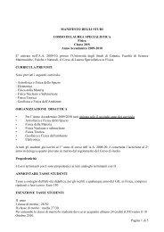 Laurea Specialistica in Fisica 20-S - Dipartimento di Fisica e ...