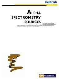 ALPHA SPECTROMETRY SOURCES - High Technology Sources Ltd