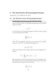 6 Die kanonischen Bewegungsgleichungen