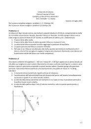 compito 13/07/11 - Dipartimento di Fisica e Astronomia dell ...