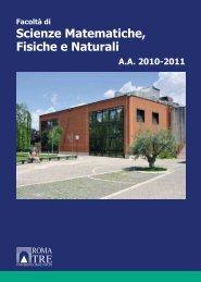 Scienze Matematiche, Fisiche e Naturali - Servizio di hosting ...