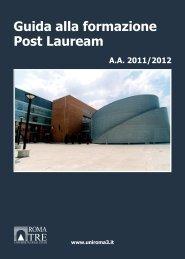 Guida alla formazione Post Lauream - Servizio di hosting ...