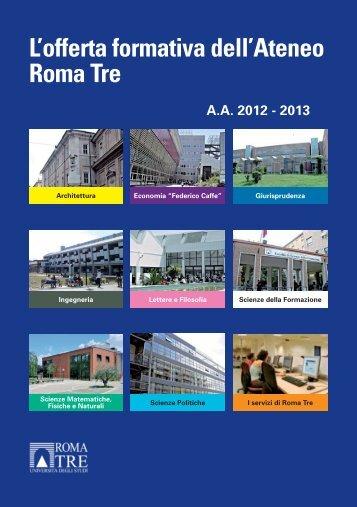 L'offerta formativa dell'Ateneo Roma Tre - Servizio di hosting ...