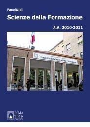 Scienze della Formazione - Servizio di hosting - Università degli ...