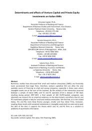 Determinants and effects of Venture Capital and Private Equity ...