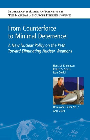 From Counterforce to Minimal Deterrence: - Federation of American ...
