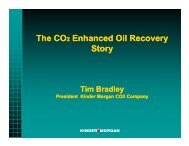 The CO2 Enhanced Oil Recovery Story