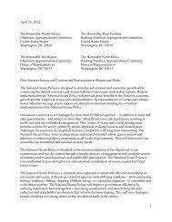 1 April 25, 2012 The Honorable Daniel Inouye The Honorable Thad ...