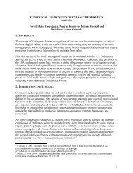 Ecological Components of Endangered Forests - NRDC Document ...