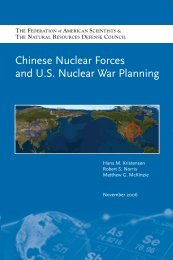 Report: Chinese Nuclear Forces and U.S. Nuclear War Planning