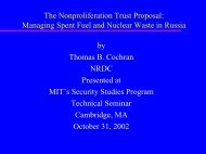 Managing Spent Fuel and Nuclear Waste in Russia by Thomas B ...