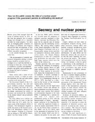 Secrecy and nuclear power - NRDC Document Bank - Natural ...