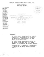 Natural Resources Defense Council, Inc. - NRDC Document Bank ...