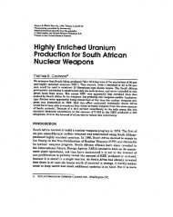 Highly Enriched Uranium Production for South African Nuclear ...