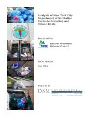 Analysis of New York City Department of Sanitation Curbside ...