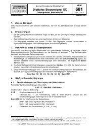 Digitales Steuersignal SX