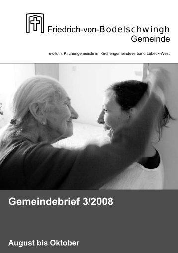 Gemeindebrief 3/2008 August bis Oktober - Bodelschwingh-Kirche