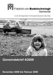 Gemeindebrief 4/2008 - Bodelschwingh-Kirche