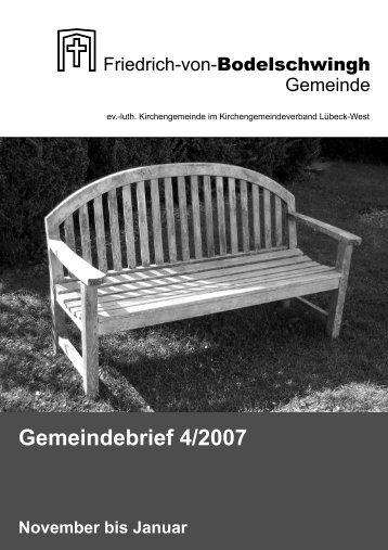 Gemeindebrief 4/2007 November bis Januar - Bodelschwingh-Kirche